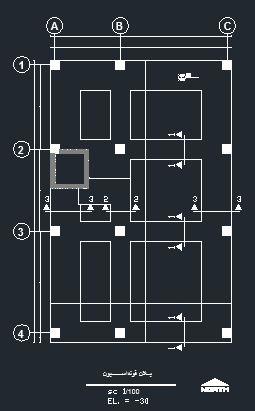 پلان مجتمع مسکونی 4 طبقه