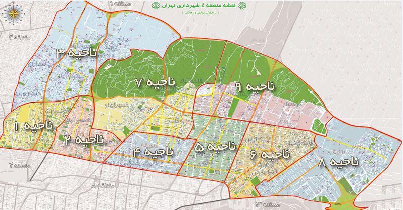 فایل های معماری منطقه 4 تهران