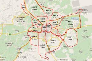 دانلود نقشه کد منطقه 10 اصفهان