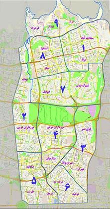دانلود نقشه اتوکد منطقه دو تهران