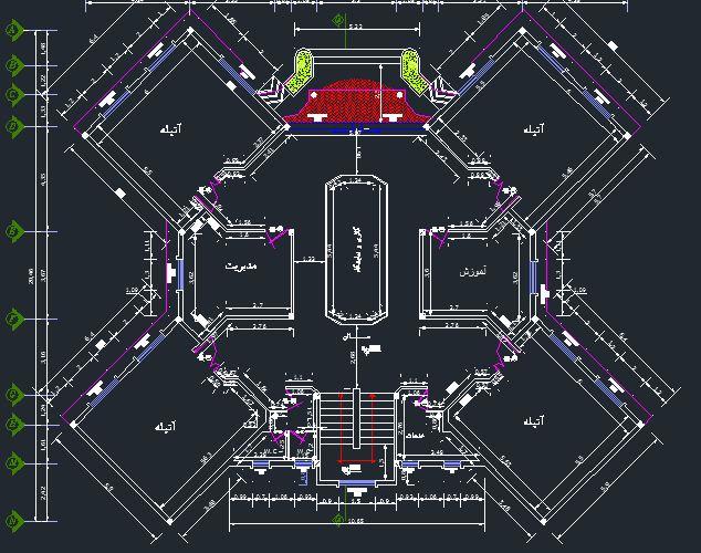 هشت - دانلود پلان دانشگاه معماری