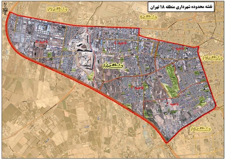 نقشه اتوکد منطقه 18 تهران