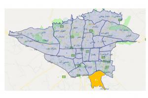 نقشه اتوکد منطقه 20 تهران