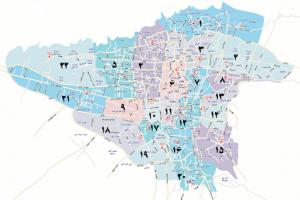 نقشه اتوکد تهران